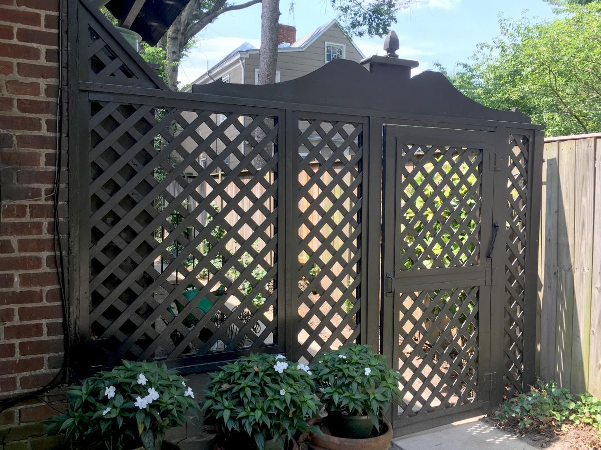 Tudor trellis repair and design fabrication english Tudor style fence